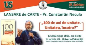 Lansare de carte – Pr. Constantin Necula | 12 decembrie 2018