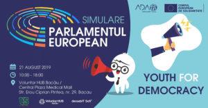 Simulare Parlamentul European – ședință plenară, Youth for Democracy | 21 august 2019