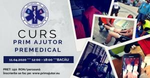Curs de Prim Ajutor Premedical Bacău | 11 aprilie 2020