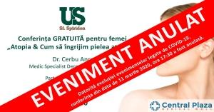 """Conferința Gratuită """"Atopia & Cum să îngrijim pielea atopică"""""""